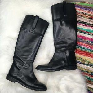 Michael Kors Tall Riding Boots 7 Black